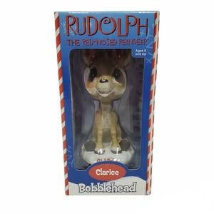 Misfit Clarice Doe Bobblehead Rudolph the Red Nose Reindeer 2002 New In Box